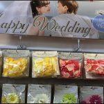 ダイソー100均結婚式ウェディングフラワーペタルグッズ画像プレ花嫁