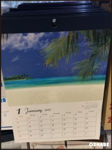 ダイソー 壁掛けカレンダー 2017