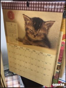 セリア 壁掛けカレンダー