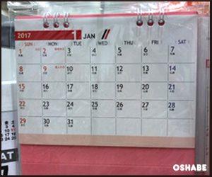 セリア 壁掛けカレンダー 2017