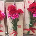 ダイソー100均母の日2017カーネーション造花プレゼント画像