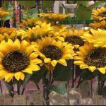 ダイソー100均ひまわり造花画像一覧!向日葵花冠リース、ボール等